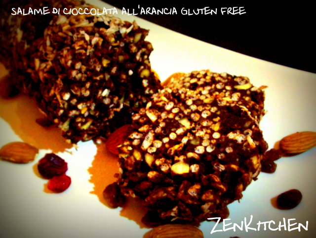salame di cioccolata all'arancia gluten free