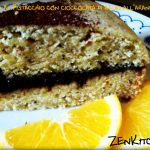 Torta al pistacchio farcita con cioccolata di azuki all'arancia