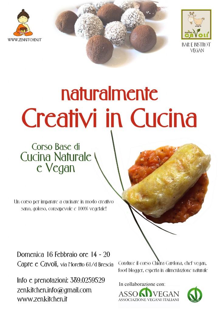 """""""naturalmente creativi in cucina"""" corso base di cucina naturale vegan"""