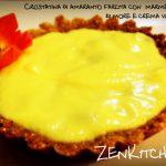 Crostatina di amaranto farcita con marmellata di more e crema vaniglia