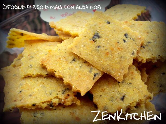 sfoglie di mais e riso con alga nori