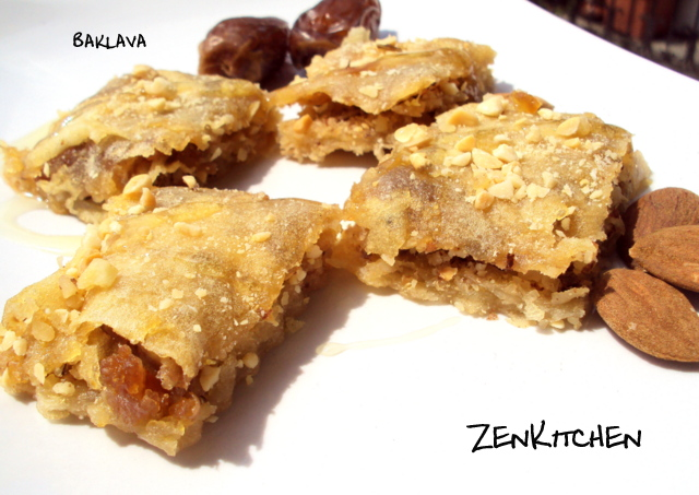 Baklava vegan version