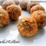 Piccole perle alle carote e mandorle
