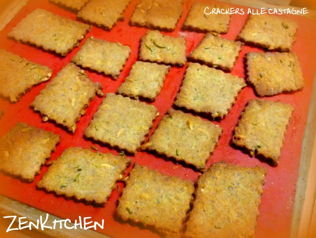 crackers di castagne e semi di girasole