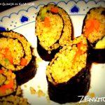 Rotolini di quinoa in alga nori