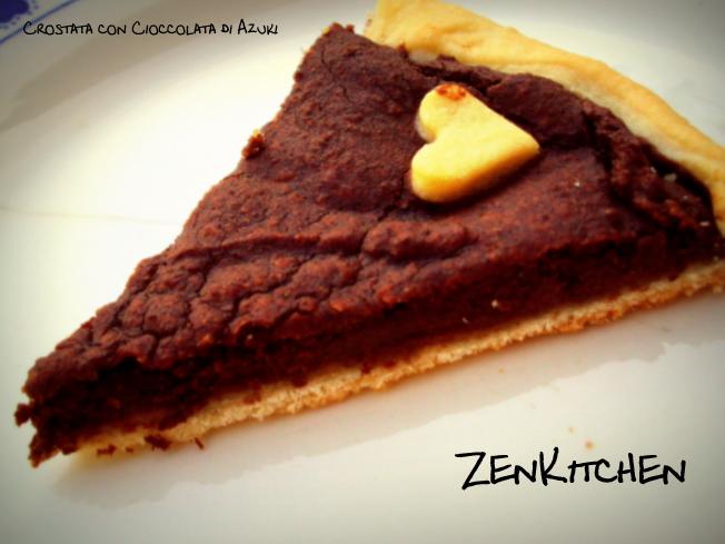 crostata con cioccolata di azuki