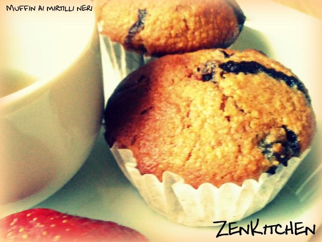 Muffin Integrali ai Mirtilli Neri