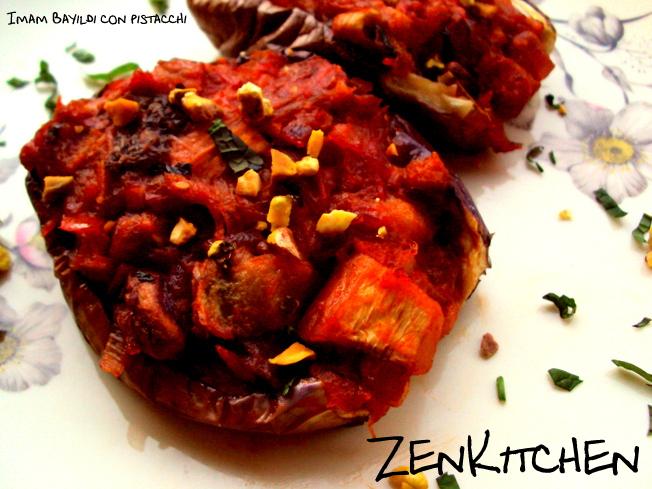 Imam bayildi con pistacchi: le melanzane ripiene vegan