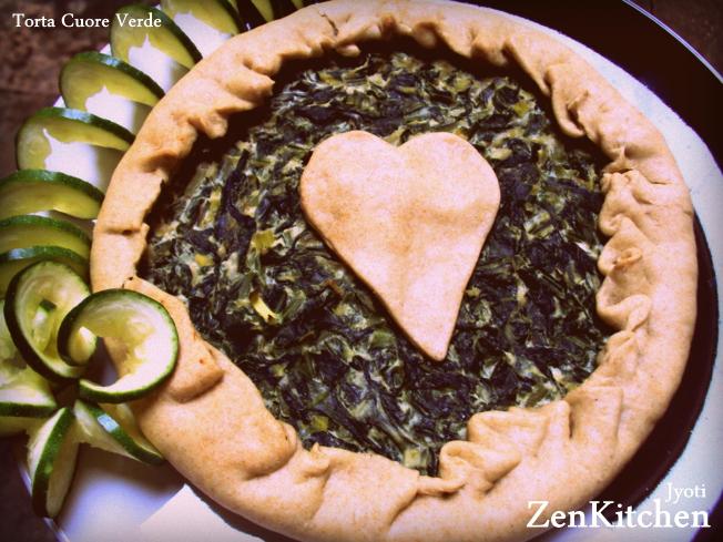Torta cuore verde