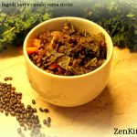 Zuppa di fagioli neri e kale