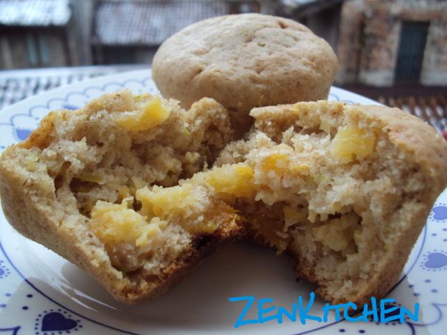 Muffin alle zucchine e albicocche