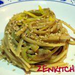Linguine al tahin, zucchine e limone