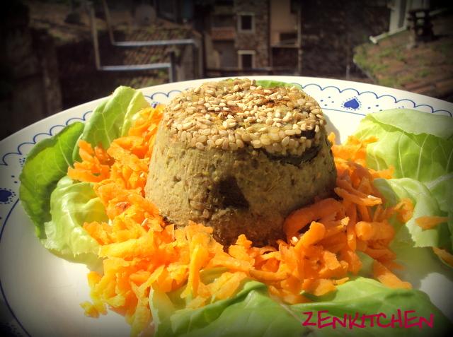 Tortino di zucchine e mousse di fave