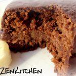 Tortine cioccolato e banana con composta di fichi