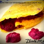 Crepes glutin free con mousse di carote viola e topinambur