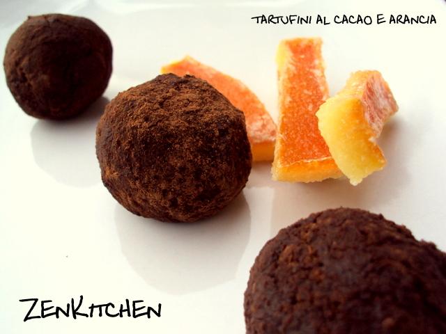 Tartufini al cacao e arancia