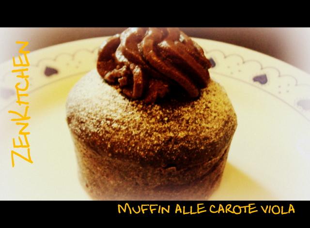 Muffin alle carote viola