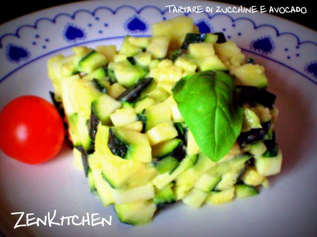 Tartare di zucchine e avocado