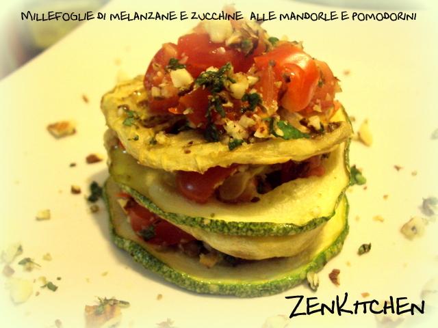 Millefoglie di zucchine e melanzane