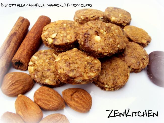 Biscotti alla cannella, mandorle e cioccolato