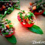 Pomodorini con insalata di lenticchie