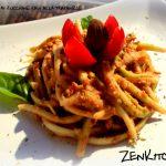 Spaghetti di zucchina alla trapanese