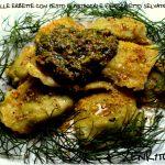 Ravioli alle erbette con pesto di pistacchi e finocchietto selvatico