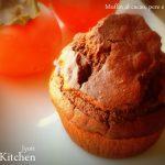 Muffin al cacao, pere e pistacchi