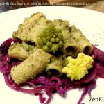 Pasta di khorasan con broccoli romani e cavolo viola stufato