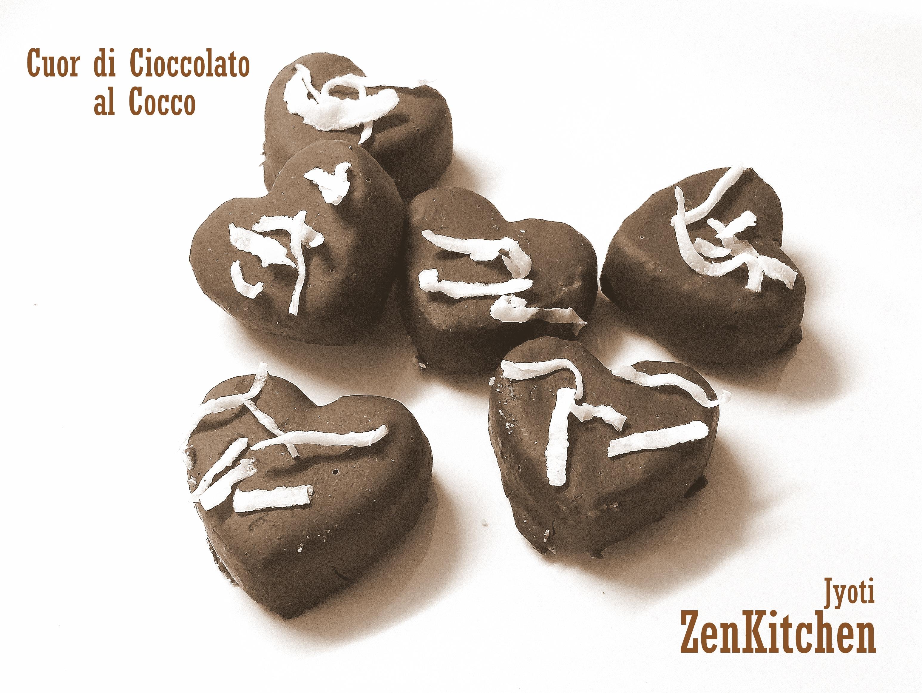 Cuor di cioccolato al cocco