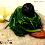 agretti olive e mandorle