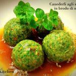 Canederli agli spinaci in brodo di miso