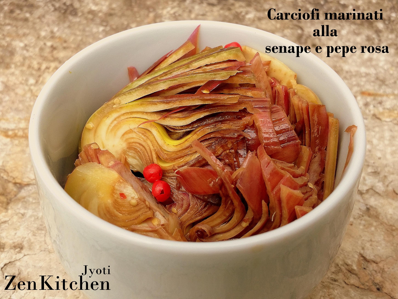 Carciofi marinati alla senape e pepe rosa