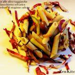 penne con olive taggiasche e verdure